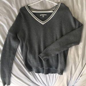 V-Neck Sweatshirt Grey American Egale